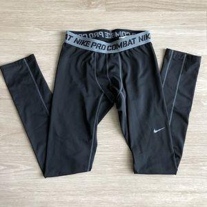 Nike Pro Combat Compression Leggings Tights Blk XL